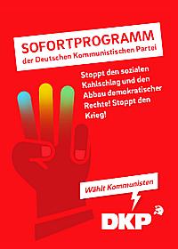 Titelblatt: Sofortprogramm der DKP