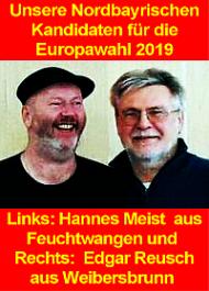 Banner: Unsere fränkischen Kandidaten für die Europawahl 2019