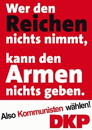 Plakat zur EU-Wahl - DKP kandidiert zur EU-Wahl