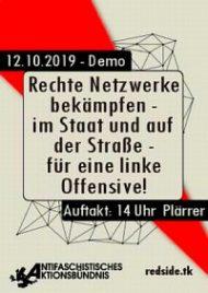 """Nürnberg, 12.Oktober, Demonstration: """"Rechte Netzwerke bekämpfen – im Staat und auf der Straße!"""""""