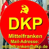Logo und Mail der DKP Mittelfranken