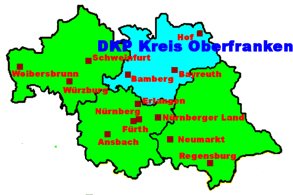 Karte: DKP Kreis Oberfranken