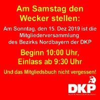 Banner: Bezirks mitgliederversammlung